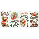 Naklejki wielokrotnego użytku - Święty Mikołaj