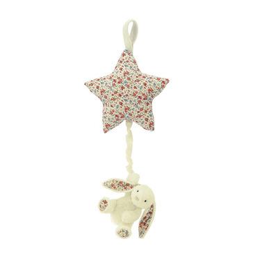Króliczek pozytywka 28 cm kremowy w kwiaty Jellycat