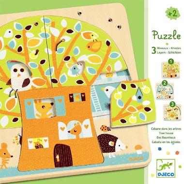 Djeco, puzzle dla najmłodszych 3 plansze Drzewo