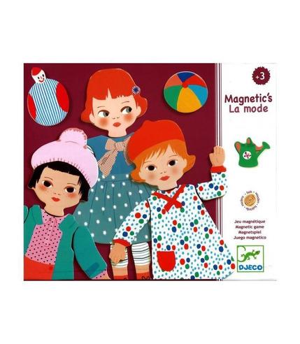 Drewniana układanka magnetyczna Moda Djeco