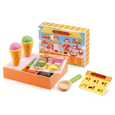 Djeco, drewniany zestaw do zabawy w lodziarnię