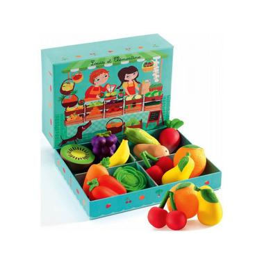 Djeco, skrzyneczka z warzywami i owocami