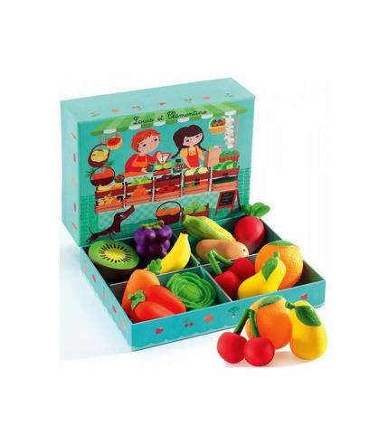 Skrzyneczka z warzywami i owocami Djeco