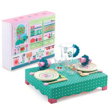 Djeco, stolik zestawem obiadowym