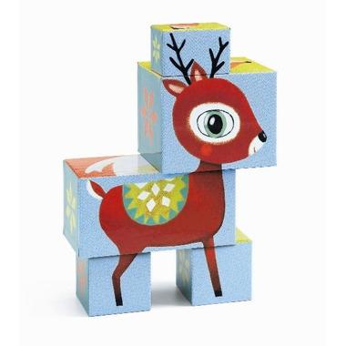 Djeco, kartonwe klocki zwierzęta z lasu