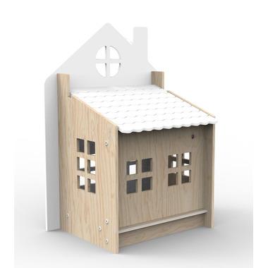 Lolek - skrzynia na zabawki biała Planeco