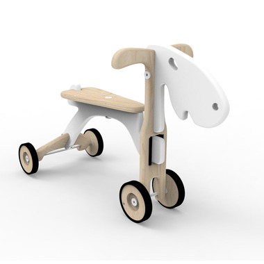 Drewniany jeździk dla dzieci Łosiołek biały
