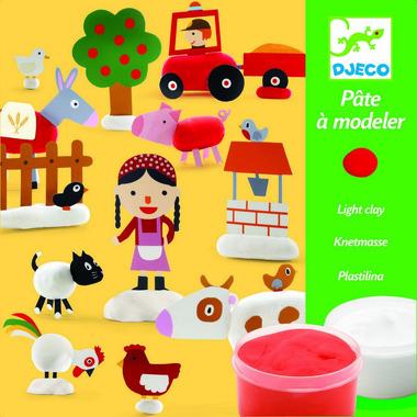 Djeco, zestaw artystyczny z modeliną Farma
