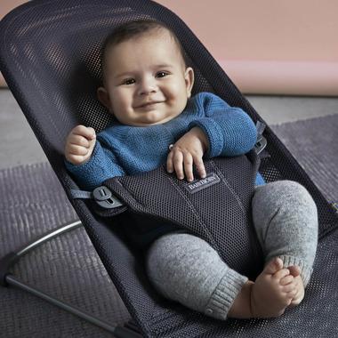 BABYBJORN, leżaczek BLISS MESH z oddychającym poszyciem Antracyt