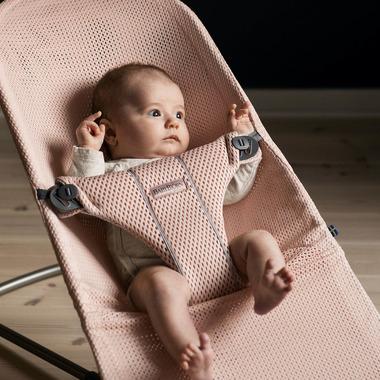 BabyBjorn, leżaczek BLISS MESH - Pudrowy róż