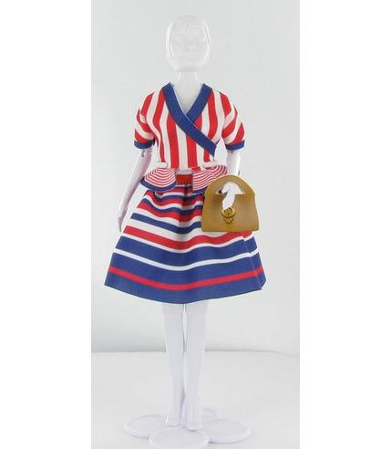 Strój Steffi z paski Dress Your Doll