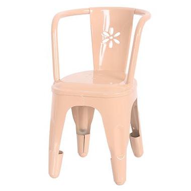Maileg, metalowe krzesło różowe
