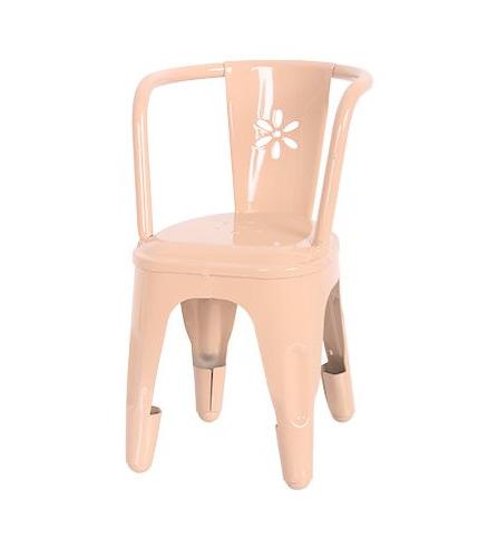 Metalowe krzesło różowe Maileg