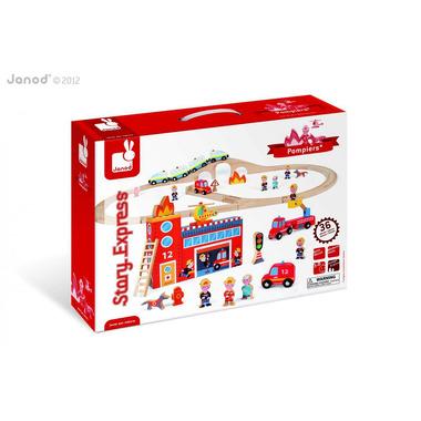 Janod, straż pożarna z torami Story Box