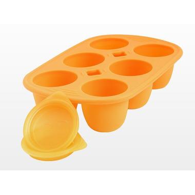 Silikonowy pojemnik do zamrażania 150ml pomarańczowy Babypod