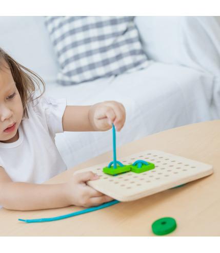 Plan Toys, Drewniany zestaw do nauki...