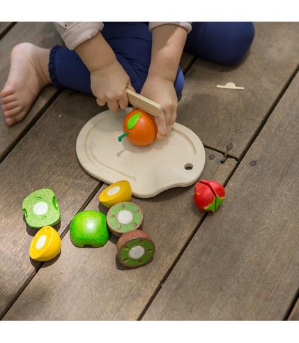 Owoce z deską do krojenia, Plan Toys