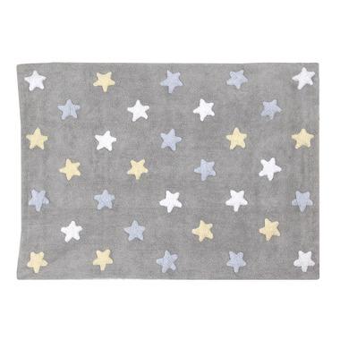 Dywan do prania w pralce Stars Grey Blue Lorena Canals