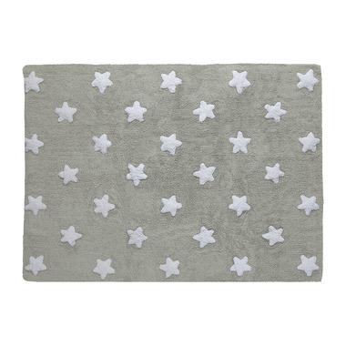 Dywan do prania w pralce Grey Stars White
