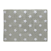 Dywan do prania w pralce Grey Stars White