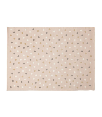 Dywan Akrylowy Dots Pink-Grey Linen White Lorena Canals