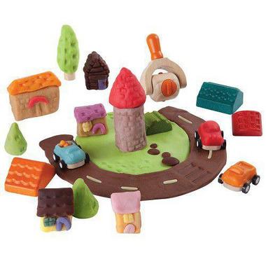 Akcesoria do ciastoliny miasto Plan Toys