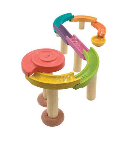 Kolorowy tor kulkowy standard Plan Toys