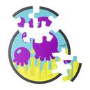 Piankowe puzzle do kąpieli Ośmiornica