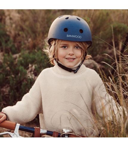 Banwood, dziecięcy kask rowerowy navy
