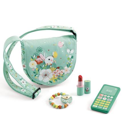 Djeco, Zielona torebka z akcesoriami