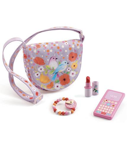 Djeco, Różowa torebka z akcesoriami