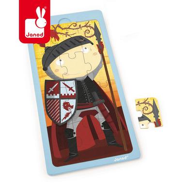 Janod, puzzle drewniane Rycerz Artur,