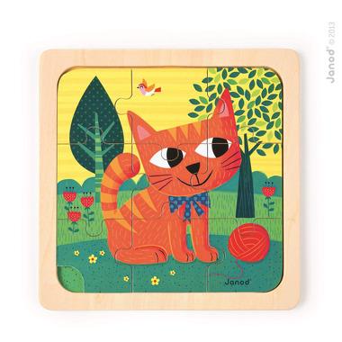 Janod, puzzle drewniane Kot Felix,