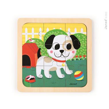 Janod, puzzle drewniane Pies Titus,