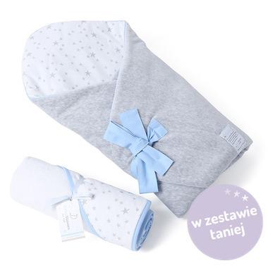 Wyprawka 2w1 Rożek MilkyWay Blue i ręcznik Color Stories
