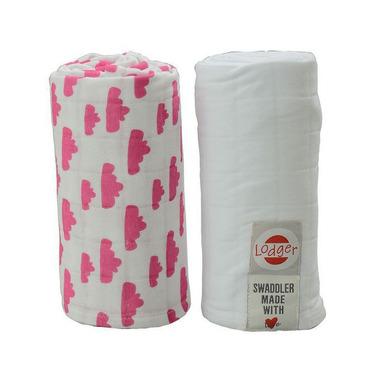 Pieluszki otulacz  2-pack Rosa/White Lodger