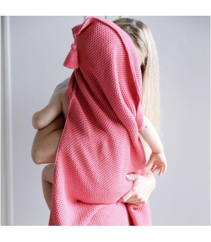 Pink no more, Kocyk bambusowy tkany z...