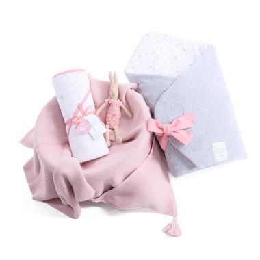 Wyprawka 3w1 Rożek MilkyWay Peach, ręcznik, kocyk z kapturkiem bambuswoy Color Stories