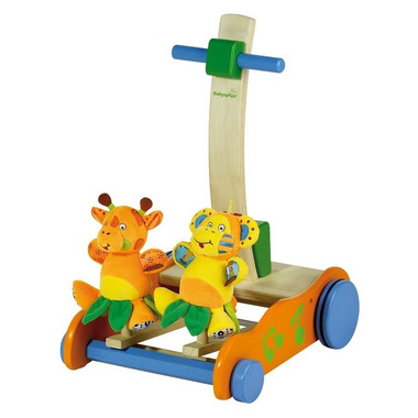 Drewniany chodzik z zabawkami Babymoov