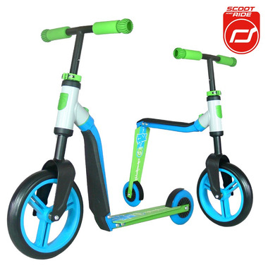 Scoot&Ride, highwaybuddy 2w1 hulajnoga i rowerek Blue, Scootandride