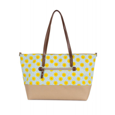 Torba Pink Lining Notting Hill Tote Sunflowers