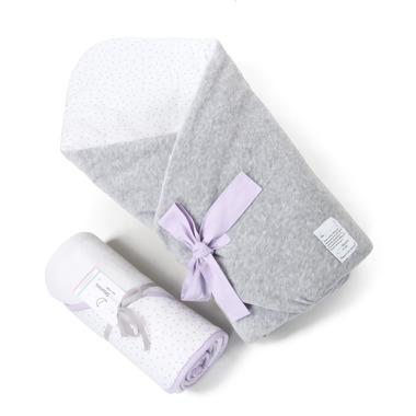 Wyprawka 2w1 Rożek  Lavender Dots i ręcznik Color Stories
