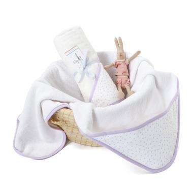 Ręcznik z kapturem ColorStories Lavender Dots