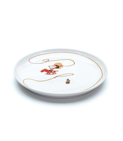 Talerz porcelanowy Western Spaghetti Djeco