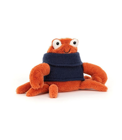 Jellycat, Krab w sweterku 13cm