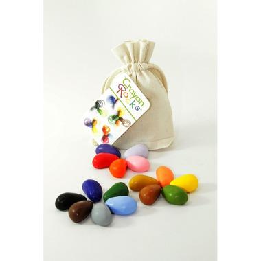 Kredki Crayon Rocks w bawełnianym woreczku - 16 kolorów