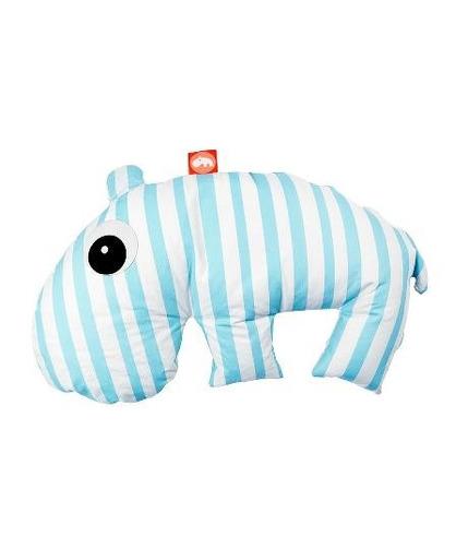 Poduszka 3 w 1 Hipopotam Niebieska