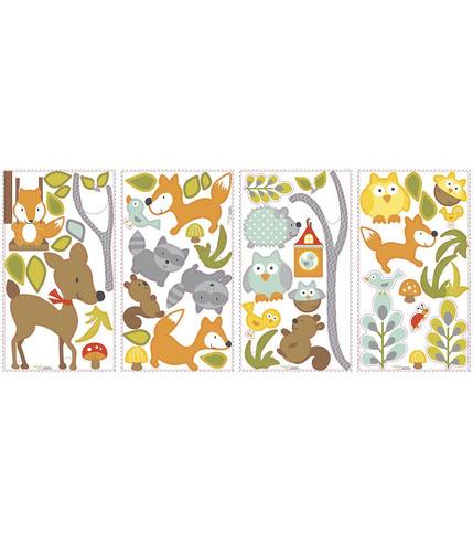 Naklejki wielokrotnego użytku - Zwierzęta z lasu