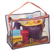 Summer Beach Bag- zestaw z akcesoriami do piasku pomarańczowy