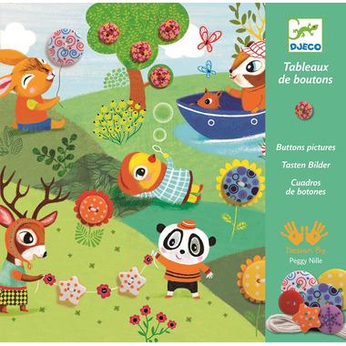 Djeco, zestaw artystyczny Sznurowane kartki pory roku